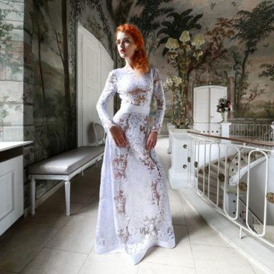 Večerní šaty Marie Zelená, foto: Miroslav Kirinovič
