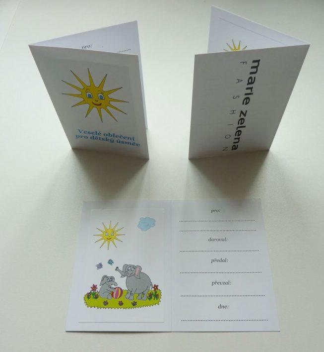 Speciální kartičky pro podporovatele