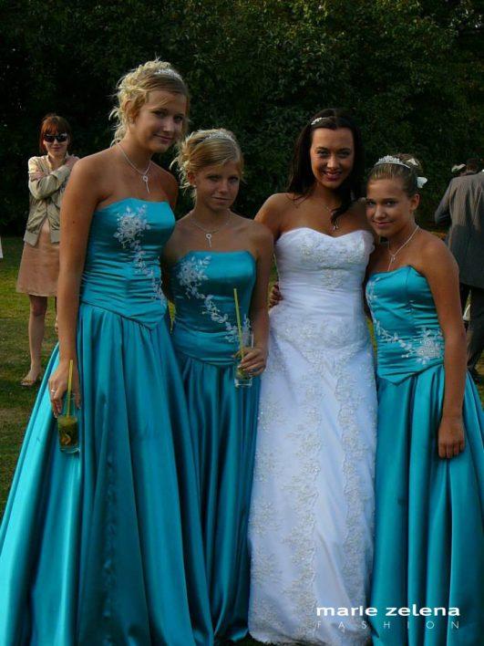 Svatební šaty Marie Zelená