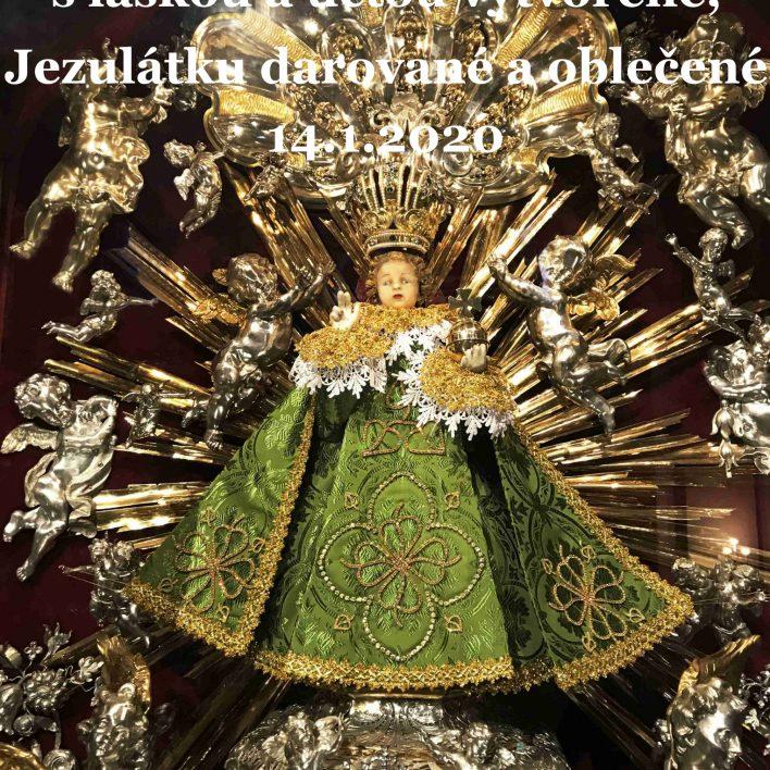 Šaty pro Pražské Jezulátko od Marie Zelené