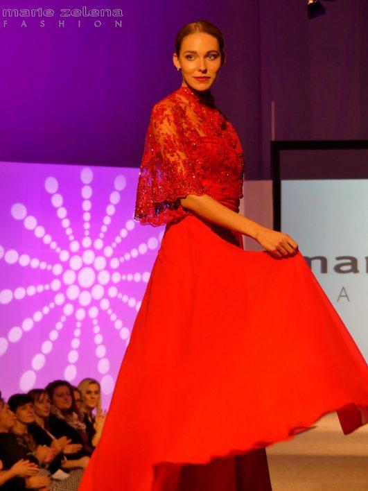 Večerní šaty Marie Zelená