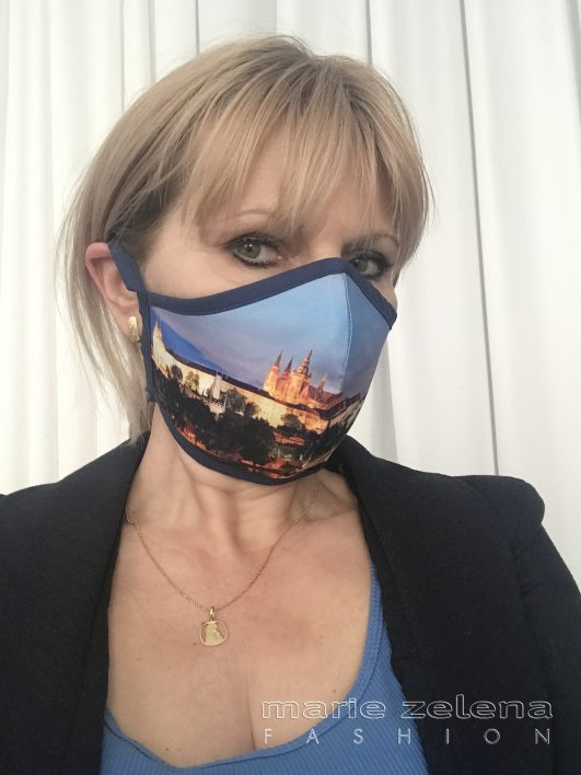 Rouška s fotografií Prahy - Marie Zelena Fashion