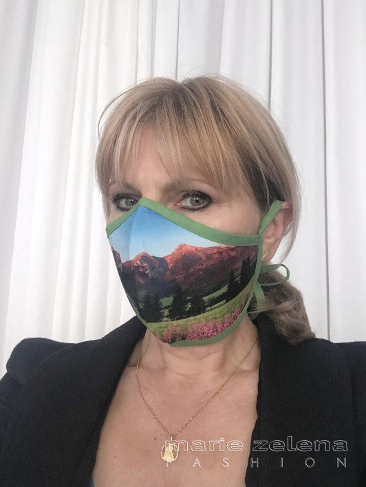 Rouška s fotografií - Belianské Tatry - Marie Zelena Fashion