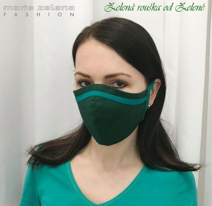 Designová rouška Marie Zelena Fashion