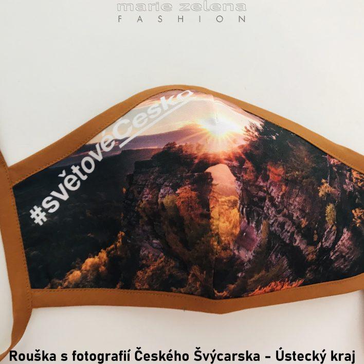 Rouška s fotografií pro Ústecký kraj - Marie Zelena Fashion a CzechTourism