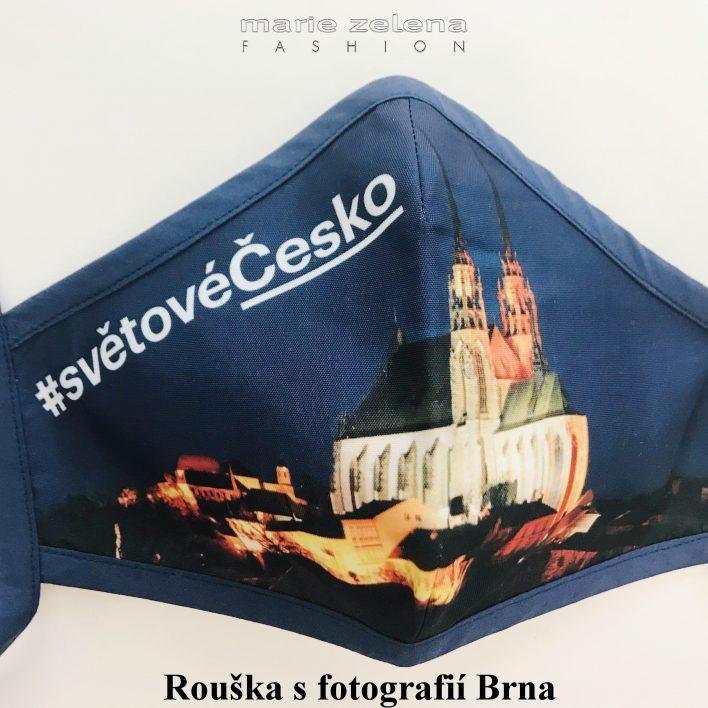 Rouška pro paní ministryni Alenu Schilllerovou - Marie Zelena Fashion a CzechTourism