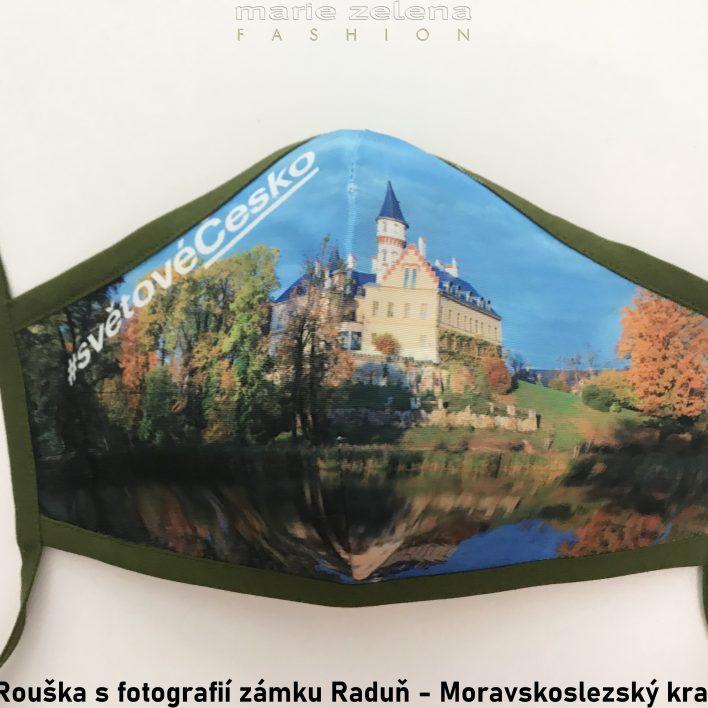 Rouška s fotografií pro Moravskoslezský kraj - Marie Zelena Fashion a CzechTourism
