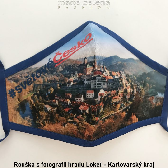 Rouška a sfotografií pro Karlovarský kraj - Marie Zelena Fashion a CzechTourism
