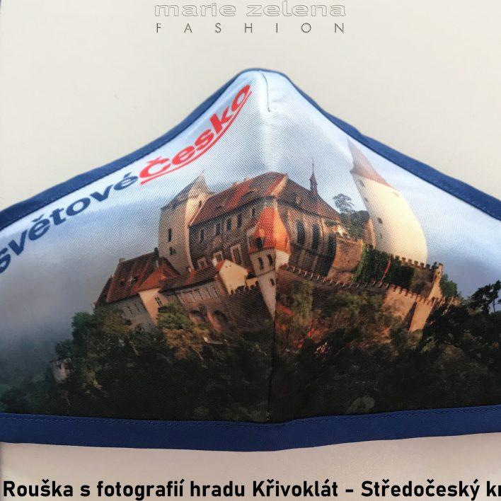 Rouška s fotografií pro Středočeský kraj - Marie Zelena Fashion a CzechTourism