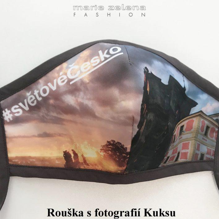 Rouška pro paní ministryni Kláru Dostálovou - Marie Zelena Fashion a CzechTourism
