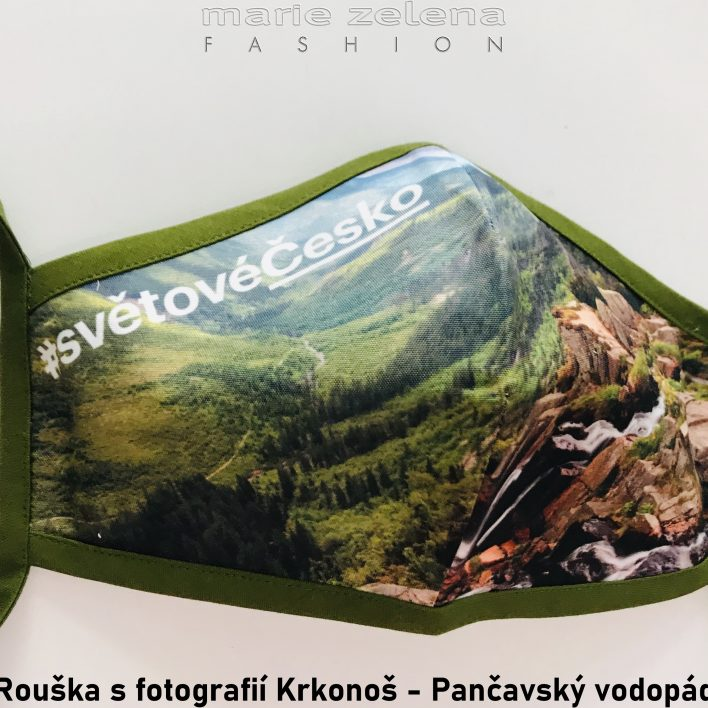 Rouška s fotografií pro Královéhradecký kraj - Marie Zelena Fashion a CzechTourism