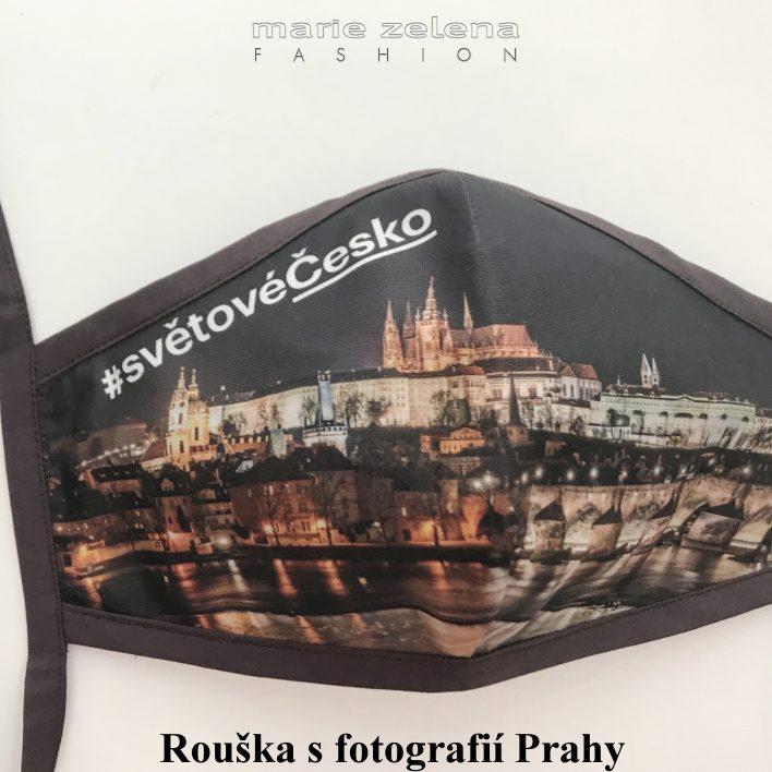 Rouška s fotografií Prahy pro pana premiéra Andreje Babiše - Marie Zelena Fashion a CzechTourism