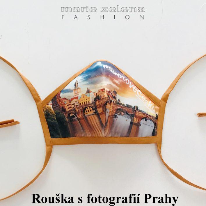 Rouška pro paní ministryni Marii Benešovou - Marie Zelena Fashion a CzechTourism