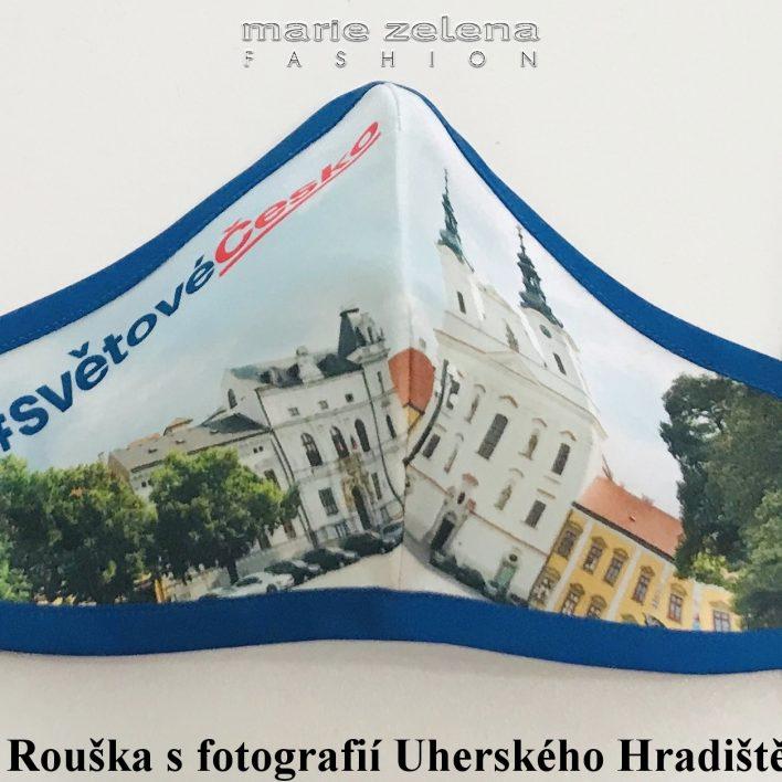 Rouška pro paní ministryni Janu Maláčovou - Marie Zelena Fashion a CzechTourism, foto na roušce: Marek Malůšek