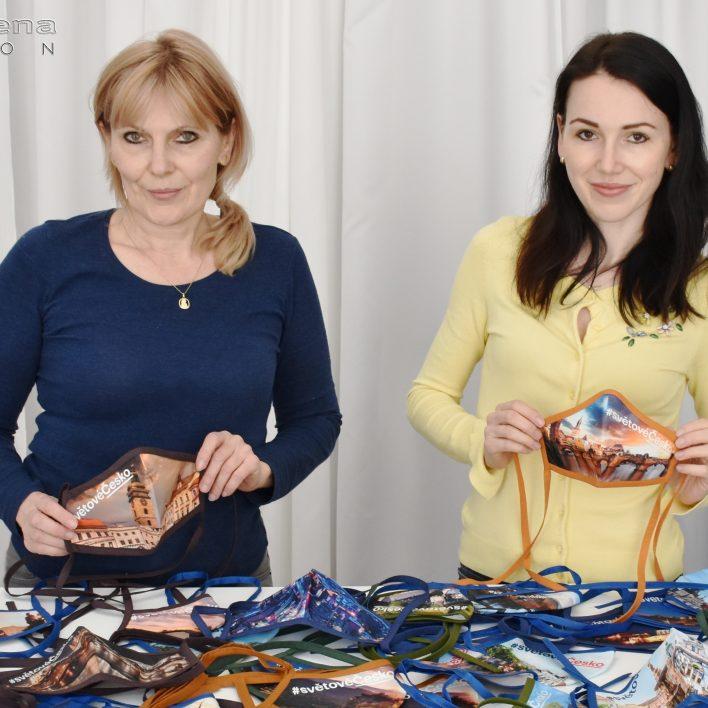 Marie Zelená a Martina Hrnčířová - roušky pro CzechTourism
