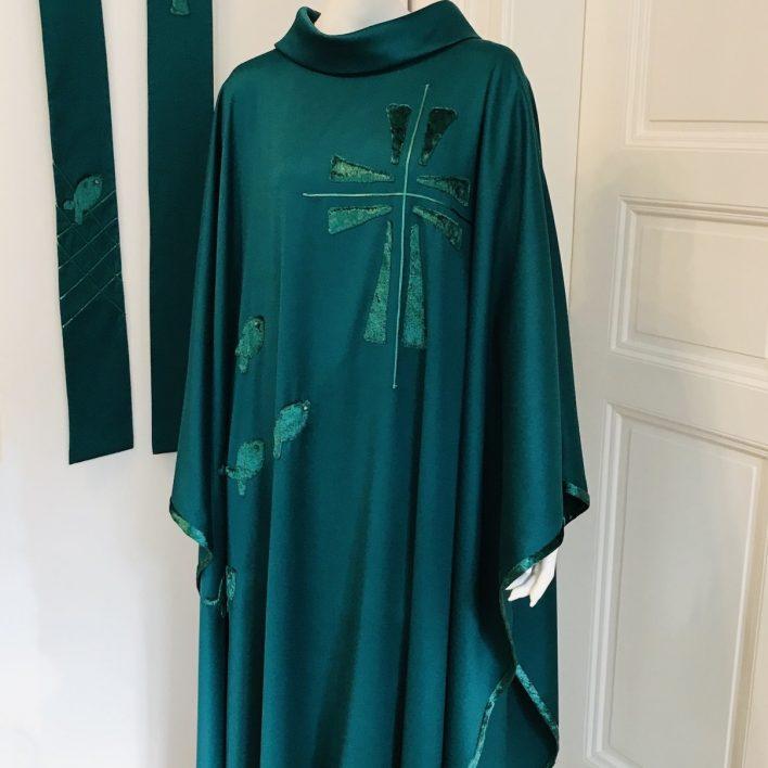 Kněžský zelený ornát a štóla - Marie Zelena Fashion